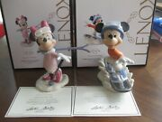 Lenox Mickey Mouse And Minnie Mouse Skiing Adventure Ski Skies 2 Figurines New