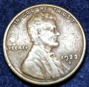 1923-s Lincoln Wheat Cent Penny Free Shipping