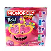 Monopoly Junior Trolls 2 World Tour Edition Dream Works Movie Board Game Family
