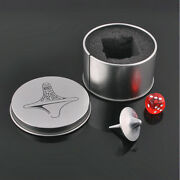 Quality Inception Totem Accurate Spinning Top Zinc Alloy Silver Vintage Toy Jh0e