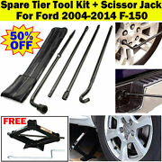 For Ford F150 Spare Tire Tool Kit Lug Wrench Extension W/ Bag And2ton Scissor Jack