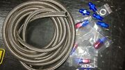 Automatic Transmission Cooler Line Kit -8an Steel Braided Hose 48re Dodge