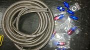 Automatic Transmission Cooler Line Kit -8an Steel Braided Hose 47re Dodge