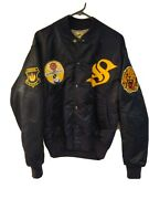 60and039s 70and039s Vintage Military Sembach Air Base Baseball Team Jacket Usafe Germany.