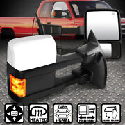 For 08-16 Ford F250-550 Sd Power+heated+led Amber Signal Side Towing Mirror Pair