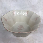 Farmhouse Style Large Scalloped Edge Bowl Stoneware By Grastel From Portugal
