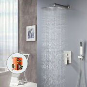 Concealed Bath Faucet Nickel Bathroom 12 Shower Faucet Sets Mixer Water Tap