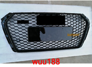 Fit For 2017-2018 Audi A4 /s4 B9 Rs4 Gloss Black Grill Honeycomb Mesh Hex Grille