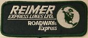 Reimer Express Lines Roadway Express Trucking Co. Embroidered Patchgreen Border