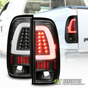 Black 1997-2003 Ford F150 Led Light Bar Tail Lights Brake Lamps Left+right 97-03