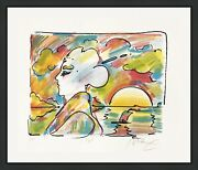 Peter Max Sunset Profile 1980 | Rare Signed Print | Pop Art | Others Available