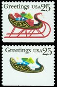 2429d 25¢ 1989 Sleigh, Red Omitted Major Error, Only 10 Exist Xf-nh Garyposner