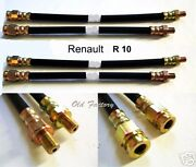 Renault R 8 1136 Front And Rear Brake Hoses Set 4 Pieces New Recently Made