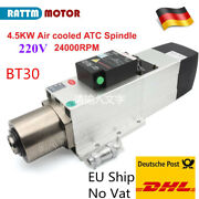 4.5kw Atc Automatical Tool Changer Air Cooled Spindle Motor Bt30 24000rpm 220v