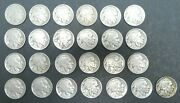 1916 - 1938 5c Indian Head Buffalo Nickel Set Lot Total Of 25 Coins