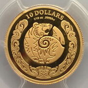 Australia 2010 Year Of Tiger 10 Dollars Pcgs Pr70 Gold Coin,proof