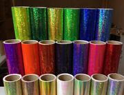 Holographic Sequins Sign Vinyl 12 X 30 Ft, Sparkle Glitter Twinkle Many Colors