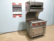 Wolf C36s-1a Commercial Hd Nsf Nat. Gas 6 Burners Stove W/oven And Salamander