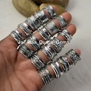 5 Pcs Spinning Spin Meditation Tone Band 925 Silver Plated Spinner Rings Sb-6