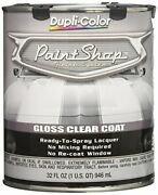 Clear Coat Paint Shop Finish System Duplicolor 32 Oz Ready To Spray Lacquer Usa