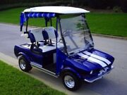 Custom Golf Cart Body Kit 1959 Muscle Car Front And Rear With Lights Hood And Trunk