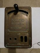Vintage Gurney Elevator Control Panel With Crank Shift And Box Early 1900s Rare