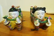 Pair Of Antique Chinese Pillows/headrest 1920's-lovers Gift