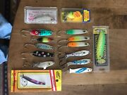Fishing Lures Lot Of 15 Salmontroutwalleye.4 New In Box 11 Lightly Used