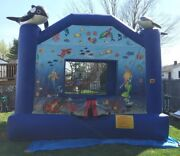Used Bounce House Seaworld Moonwalk Moonbounce Inflatable 15andrsquo Commercial Size