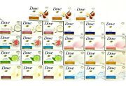 Dove Beauty Soap Bar Assorted Scent 27 Pack 4.75oz /135g