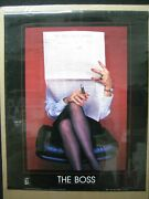 The Boss Vintage Poster Bar Garage Man Cave Hot Girl 1987 Office Cng1736