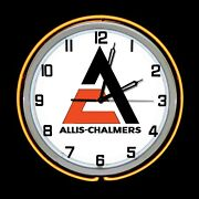 19 Allis-chalmers A-c New Logo Sign Double Neon Clock