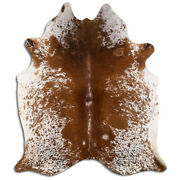 Real Cowhide Rug Salt And Pepper Brown Size 6 By 7 Ft Top Quality Large Size
