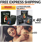 40 X Boxes Wet Anthiseptic Super Magic Tissue For Longer Sex And Imrpve Sex Life