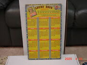 Vintage Punch Board Lucky Days .5 Cent Per Hole Gambling Device