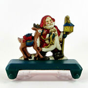 Midwest Cannon Falls Santa And Reindeer 6 Double Hook Stocking Hanger Cast Iron
