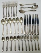 Oneida Silver Duchess Silverplate 32-pc Set Service For 6 + 2 Tablespoons Solid