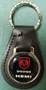 Dodge Hemi Genuine Leather Key Fob Officially Licensed Product 1/ea