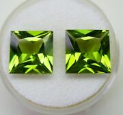 Peridot Matching Pair 9.72ct Natural Untreated +certificate Available