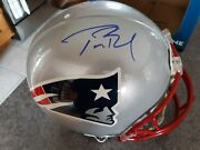 Tom Bradyand039s Signature. Authentic Nfl Riddell Helmet. A Collectors Dream.