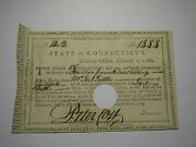 1789 Connecticut Pay Table Office Colonial Currency Note Bill Peter Colt Signed