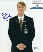 Jack Mcbrayer Signed 30 Rock Kenneth Parcell 8x10 Photo Beckett Bas T295556