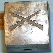 Rare 1898 Us Army Infantry Collar Device Crossed Rifles Mc Lilley Span-am War