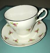 Vintage Argyle Bone China Cup Teacup Tea Cup And Saucer Set Roses Made In England