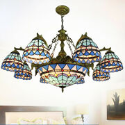 Style Chandeliers Stained Glass Ceiling Light Fixture For Living Room