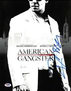 Russell Crowe Signed American Gangster Autographed 11x14 Photo Psa/dna Ab55734