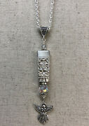 Coronation 1936 Community Knife Top Necklace Crystals And Angel