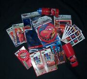 Disney Cars Party Supplies 26 Pcs Invites Table Cover Treat Bags And More Nip