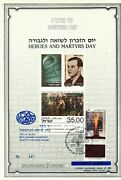 Israel 1989 Heroes And Martyrs Day S/leaf Carmel Catalog 46b