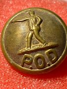 Vintage P.o.d. Post Office Department Uniform Button Brass J R Gaunt And Son Ny